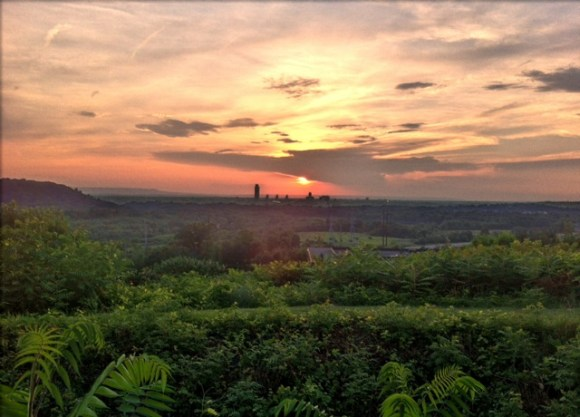 Sunset over Albany on a hot summer eve.