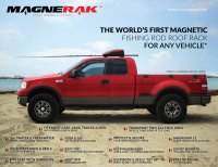 MAGNERAK - Magnetic Fishing Rod Rack for Roof of ANY Vehicle