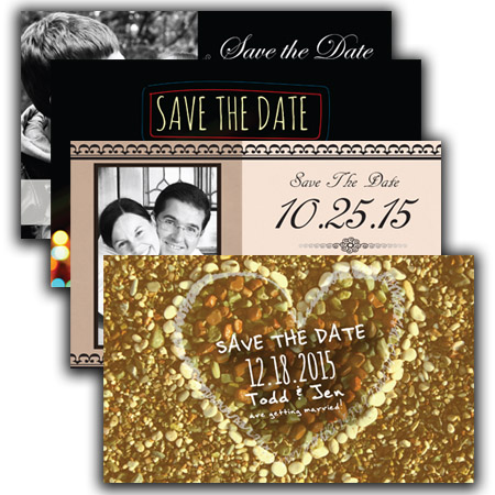 Save the Date Postcard Magnets - save date postcard