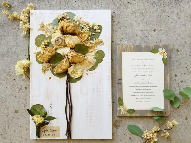 Wedding Invitation And Wedding Bouquet By Petal Press