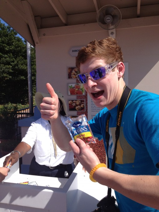Free Craisins at the Epcot International Food and Wine Festival.