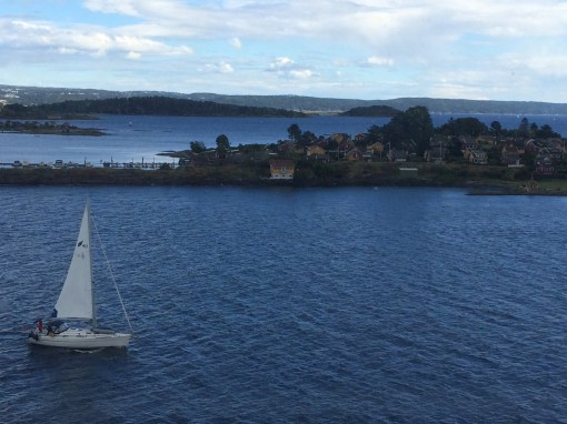 View of Oslo from DFDS Seaways Pearl