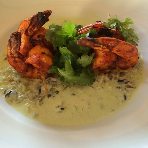 Adobe Jumbo Shrimp at El Cafe Mexicano at The Ritz Carlton, Cancun