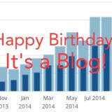 Happy Birthday!  A Year In Review.