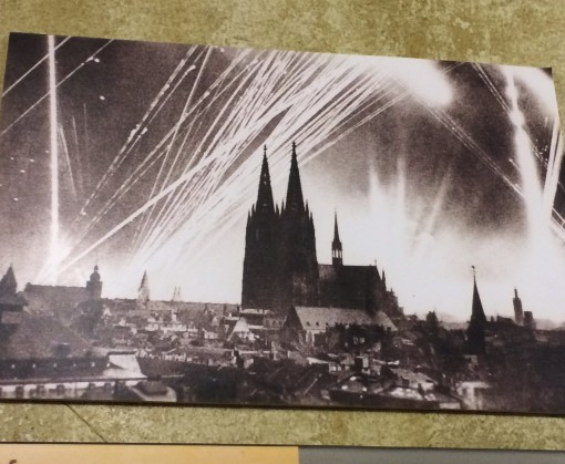 Photo of Cologne during WWII at National Socialism Documentation Center- Cologne, Germany