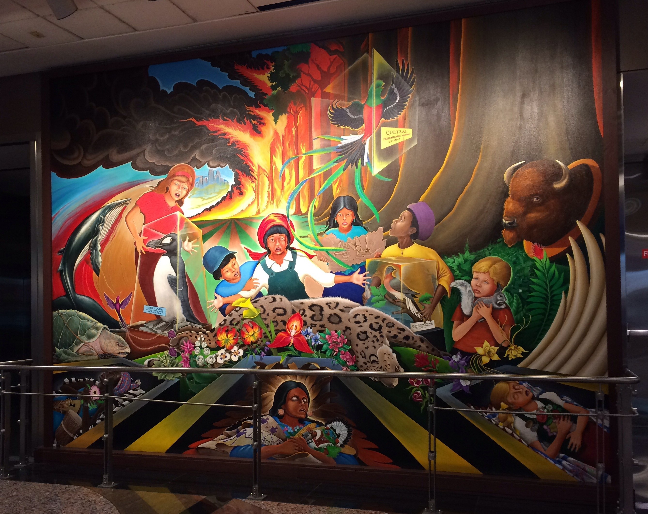 Wtf is going on at the denver airport mags on the move for Denver airport mural conspiracy
