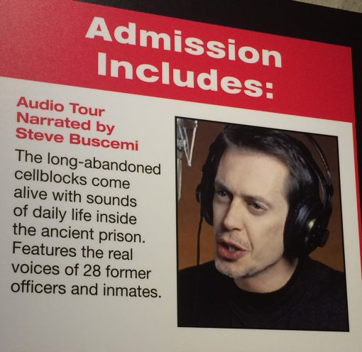 Steve Buscemi audio tour at the Eastern State Penitentiary in Philadelpia? Don't mind if I do!