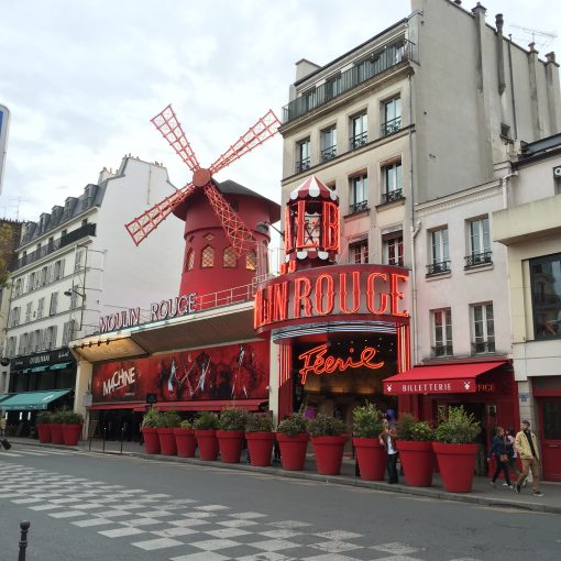 The famous Moulin Rouge cabaret in Paris