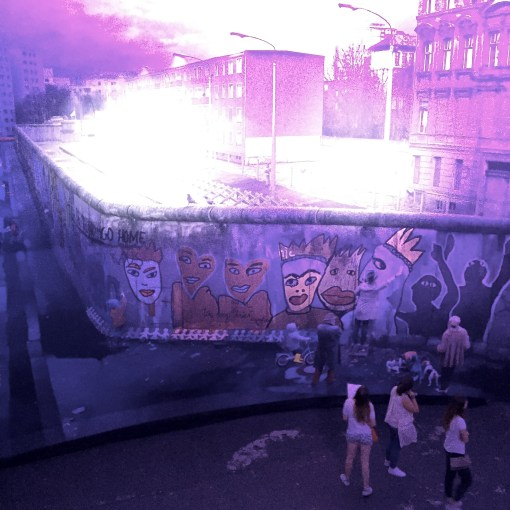 Experience The Wall, a 360 degree panorama experience about the Berlin Wall by artist Yadegar Asisi in Berlin, Germany