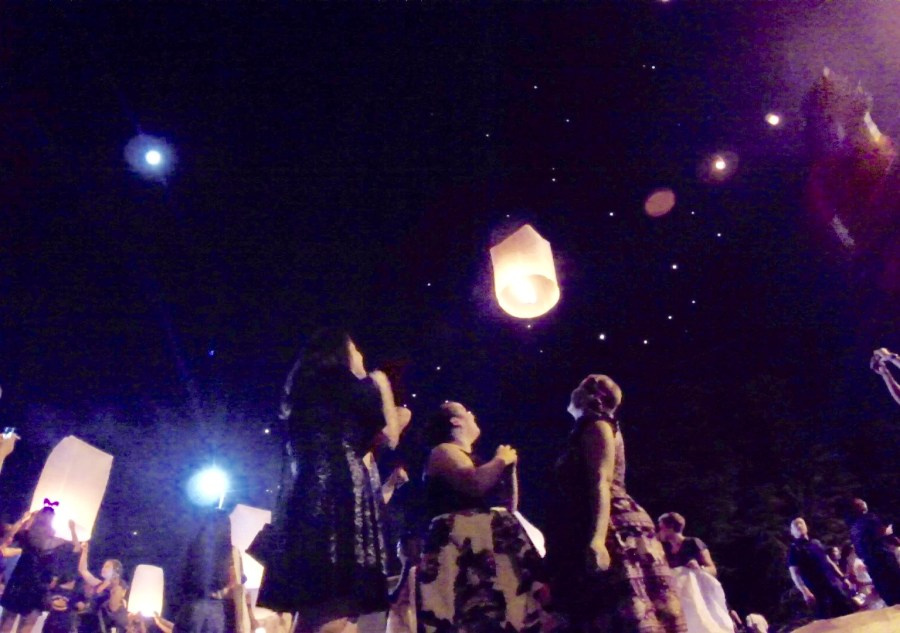 The Yi Peng Lantern festival in Chiang Mai, Thailand happens every november around the full moon and brings tourist and worshippers from all over the world.
