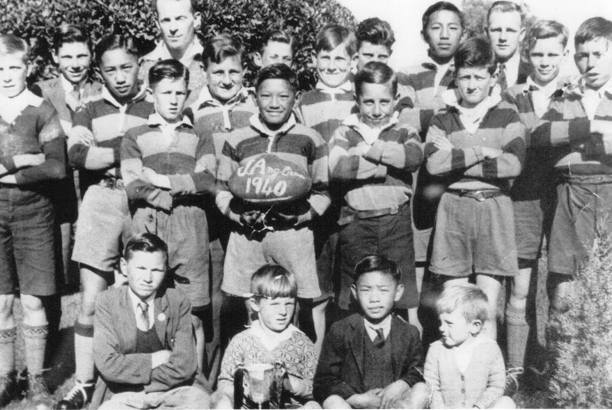 A junior Anglican team from Tumut in 1940 with four Doon brothers.