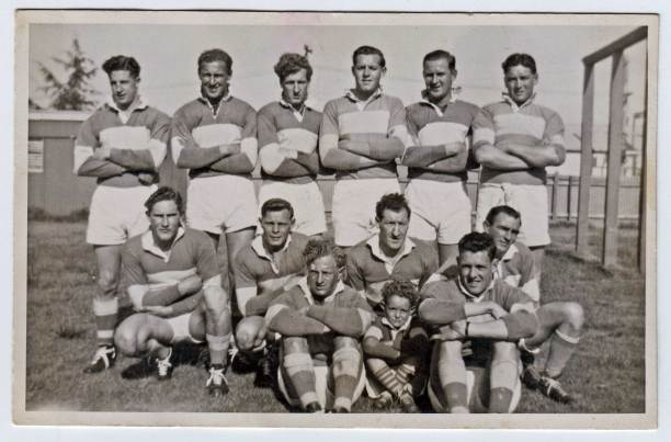 Group 9 premiers again in 1951: Standing from left - Ian Reid, Tony Howse, Neil McDonnell, Keith Henniker, Mick Howse, Kevin Chuck: Crouching - Keith Duffey, Kevin Wheatley, Roley McDonnell (captain-coach), Jim Crowe: Front - Vern Taylor, 'Digger' Fuller the ballboy, Peter Kirkby