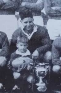 Don Furner with the Maher Cup at Junee