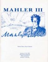 MahlerFest III - 1990 Program Book