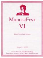 MahlerFext VI - 1993 Program Book