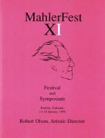 MahlerFest XI - 1998 Program Book