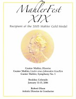 MahlerFest XIX - 2006 Program Book