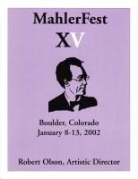 MahlerFest XV - 2002 Program Book