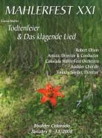 MahlerFest XXI - 2008 Program Book