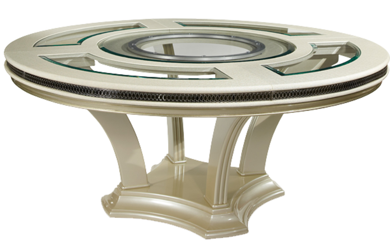 Round Glass Dining Table 72 Quot Modern Pearl Round Glass Dining Table Ebay