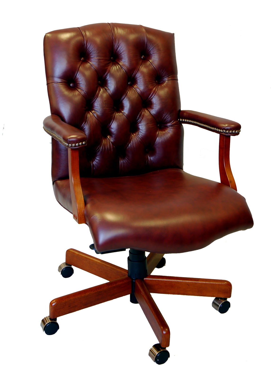 Best Office Desk Chairs Large Genuine Leather Executive Office Desk Chair Ebay