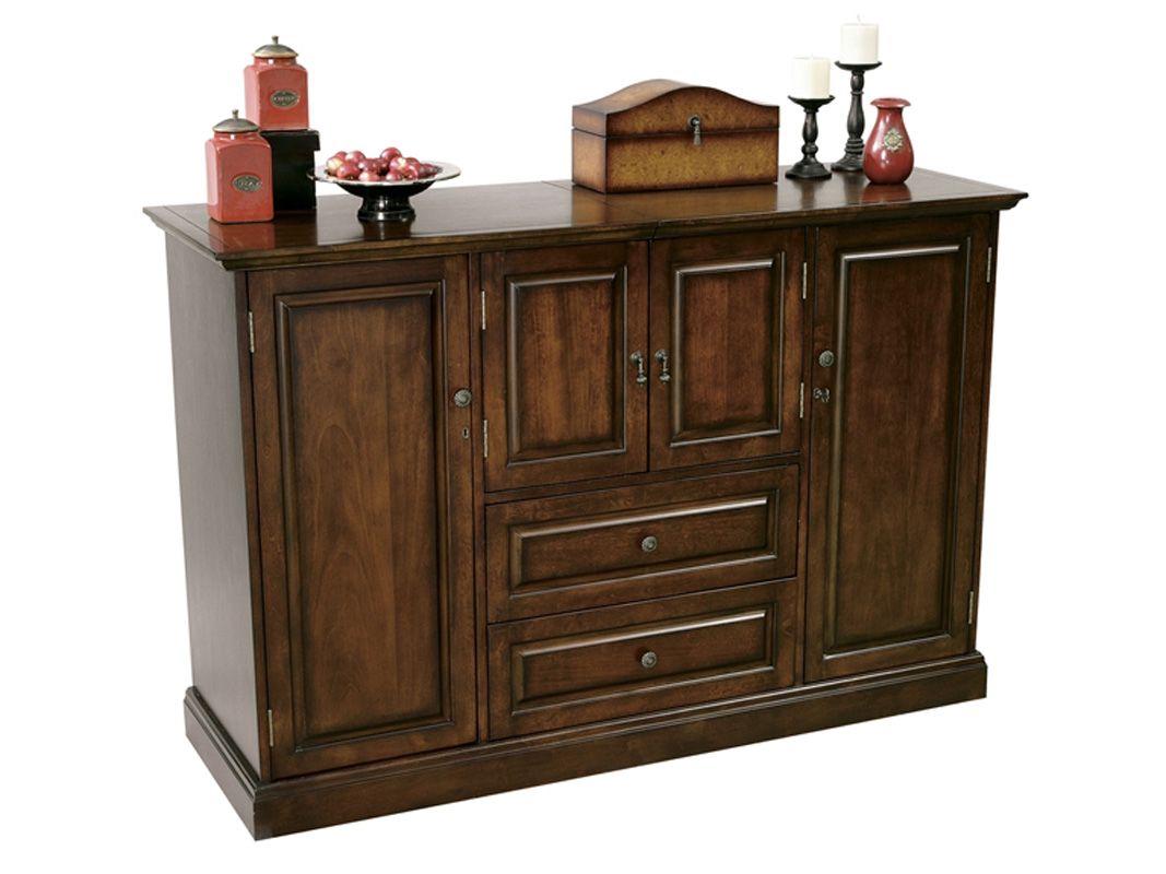 American Cherry Wine & Bar Storage Cabinet