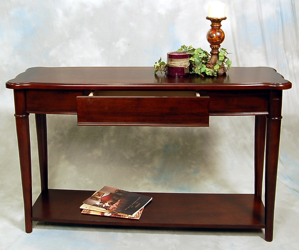 Slim Couch Table Hazelnut Narrow Sofa Console Table Ebay