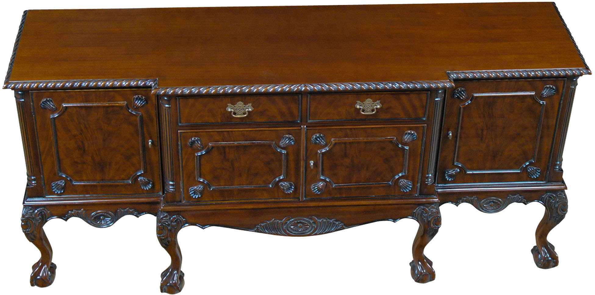 Sideboard Real Details About Classic High Leg Chippendale Sideboard In Mahogany Wood Ball In Claw Feet