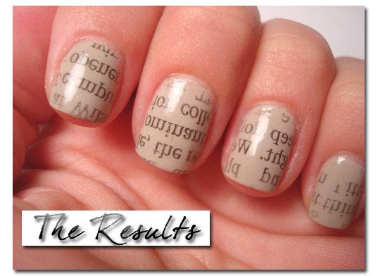 Nail Trend Newspaper Print Nails