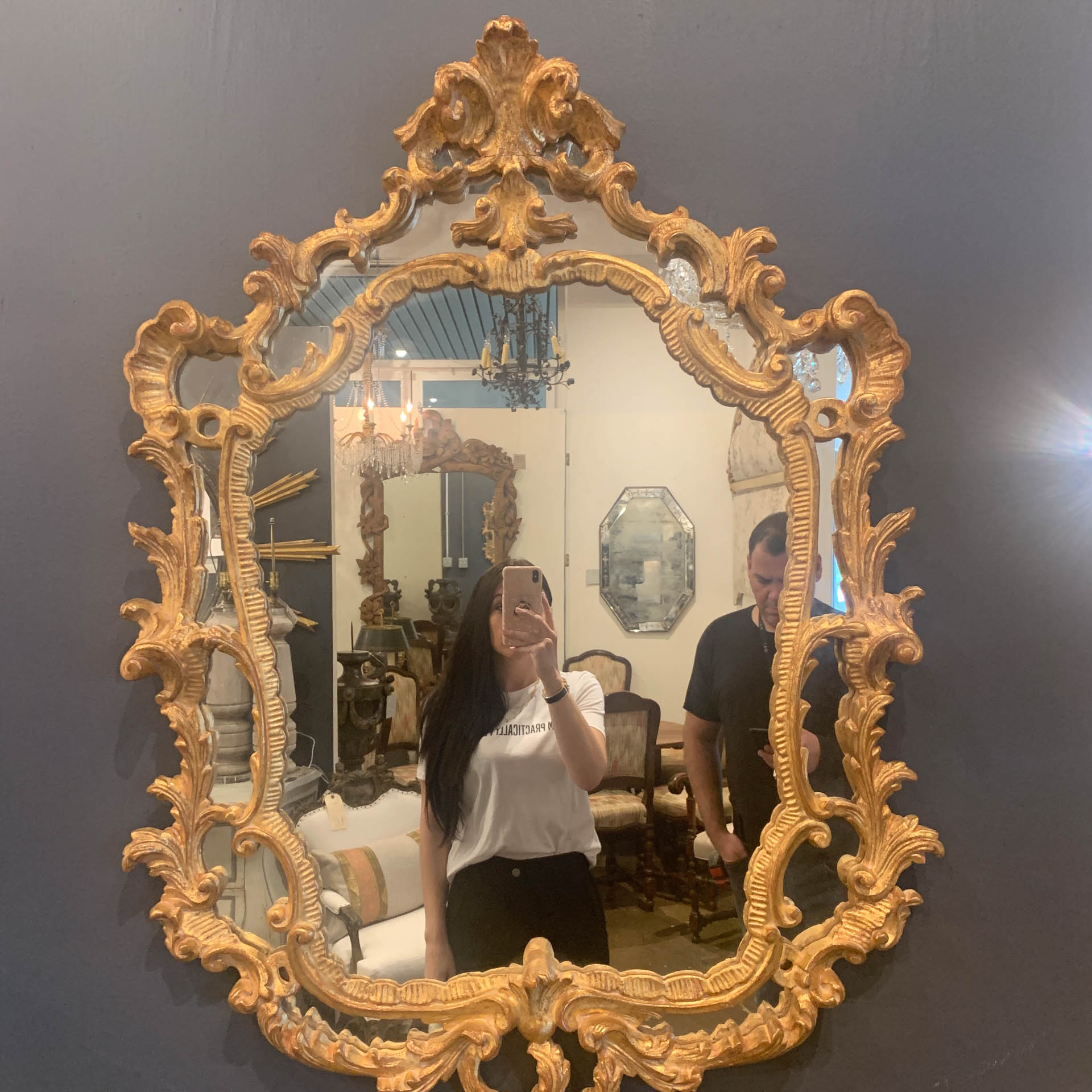 Vintage Gilded Wall Mirror Mai Memorial Antiques Interior