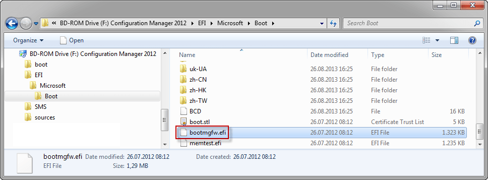 Uefi And Configmgr 2012 Issues I Bootable Media Giving