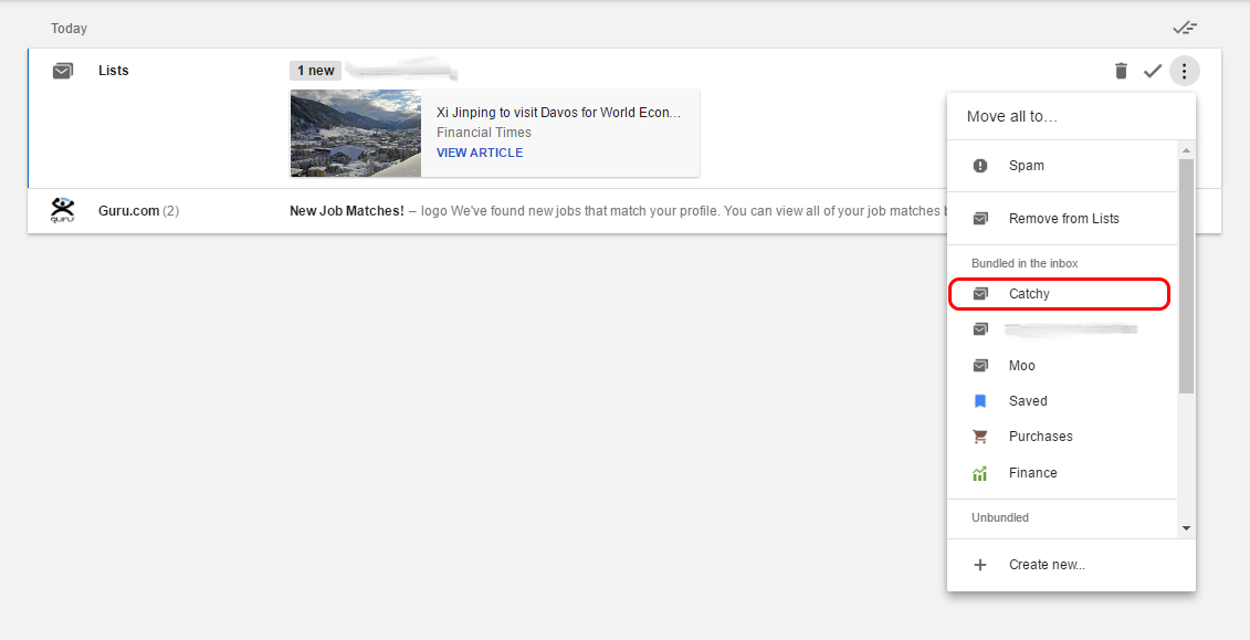 How to Group Your List Emails in Google Inbox