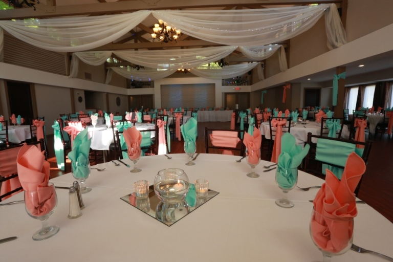 Fab Weddings Lakeville, MN - Wedding Reception Hall  Ballroom - wedding reception setup with rectangular tables