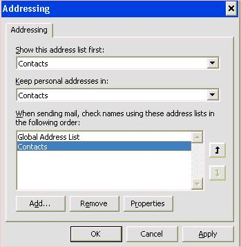 How to show my \u0027Contacts\u0027 in the Address Book \u2013 Outlook i-Net