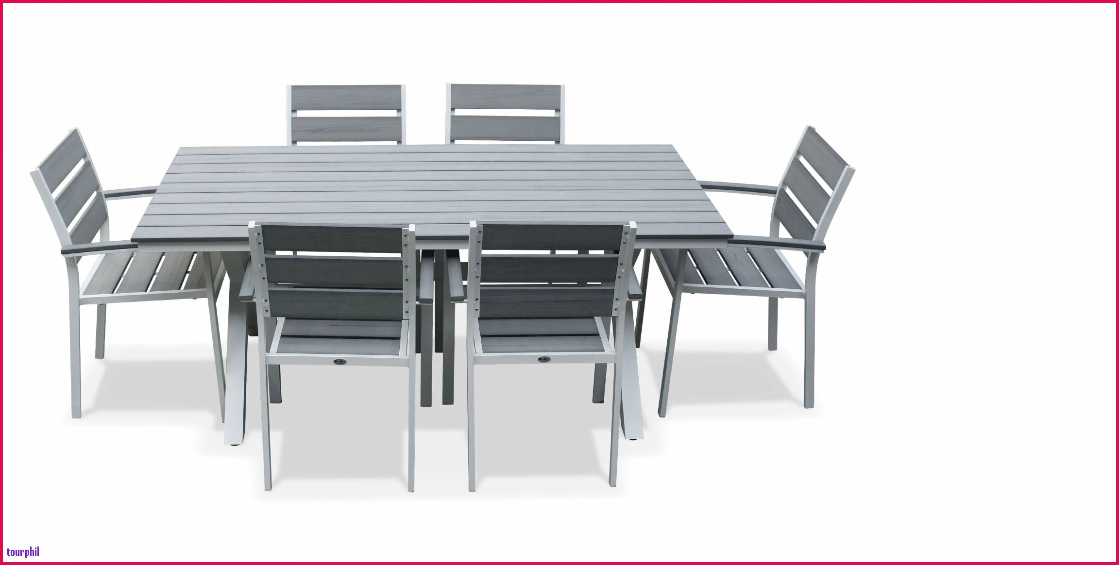 Salon Jardin Aluminium | Housse Table De Jardin Castorama Table De ...