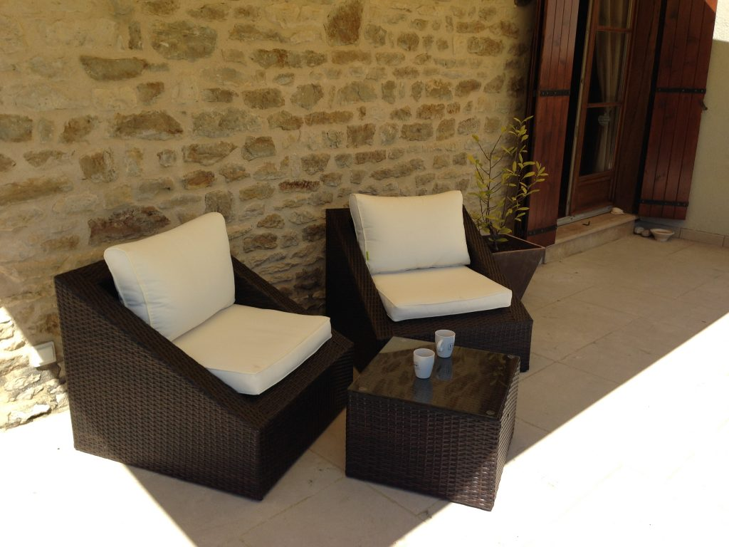 Salon De Jardin Résine Tressée 2 Fauteuils 1 Table