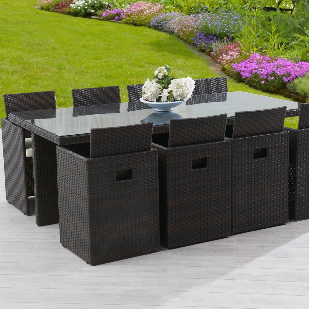Mobilier De Jardin Wicker Salon De Jardin Riverside Wicker Line 8 Places Mailleraye Fr Jardin