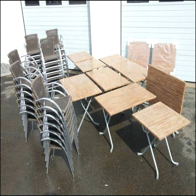 Chaises Restaurant Occasion Table Terrasse Cafe Occasion - Mailleraye.fr Jardin