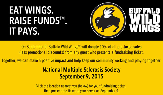Email - Eat at Buffalo Wild Wings WEDNESDAY for a 10 Fundraiser