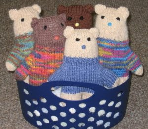Teddy Bears in Basket