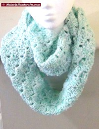 Infinity Scarf Mint Green  Crocheted Cowl  Womens Snood ...