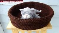 Double Chocolate Brown Basket  Brown Pet Basket  Large ...