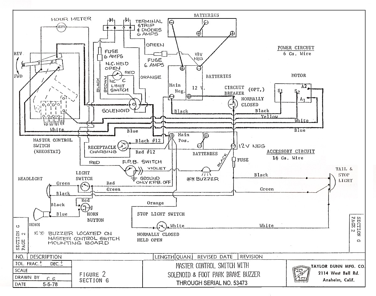 motor wiring diagram on taylor dunn battery charger wiring diagram