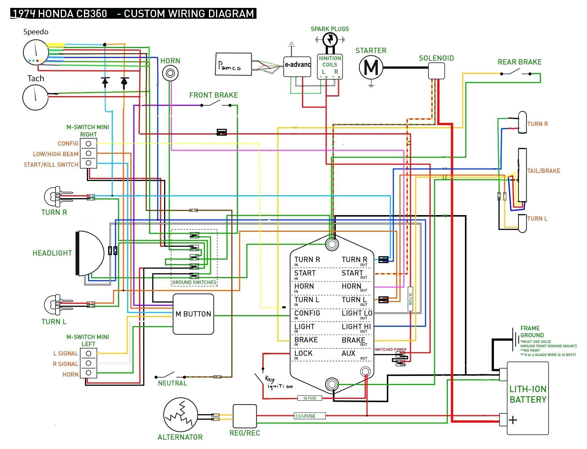 honda cb360t wiring