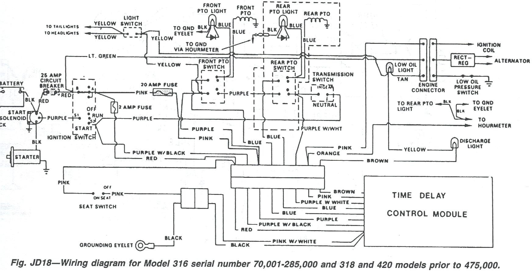 john deere lt155 starter solenoid wiring diagram