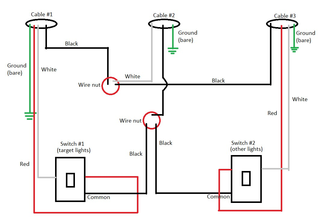 led light wiring diagram with switch