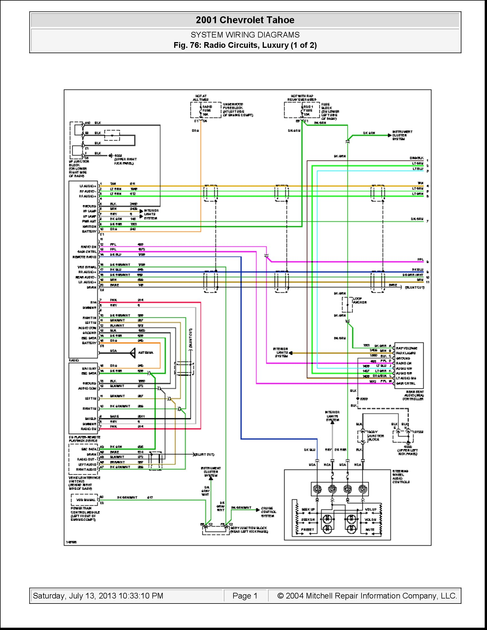 2001 chevy venture radio wiring diagram