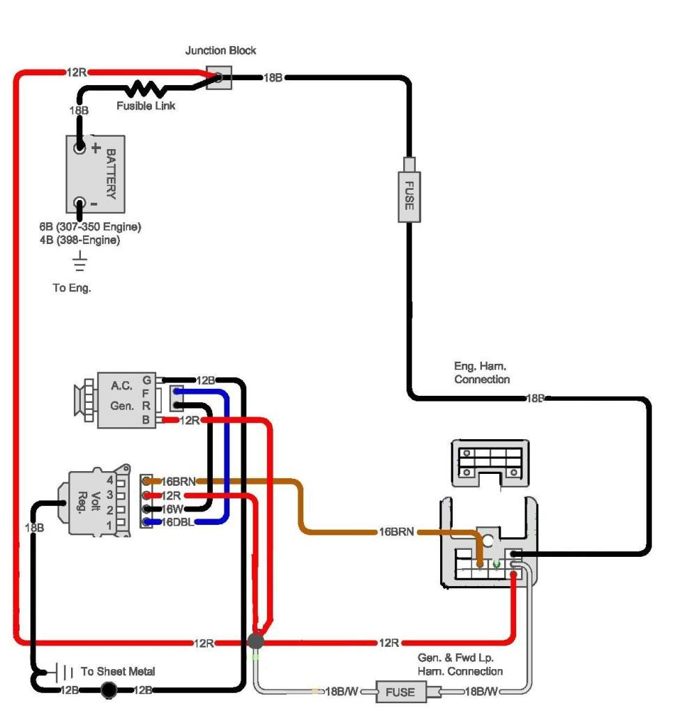 1970 chevy c10 wiring diagram alternator