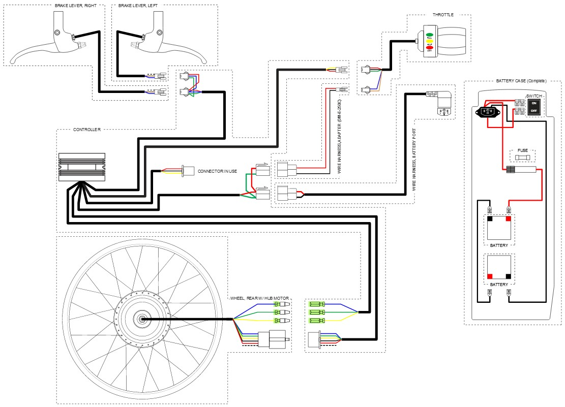 36v electric scooter wiring diagram