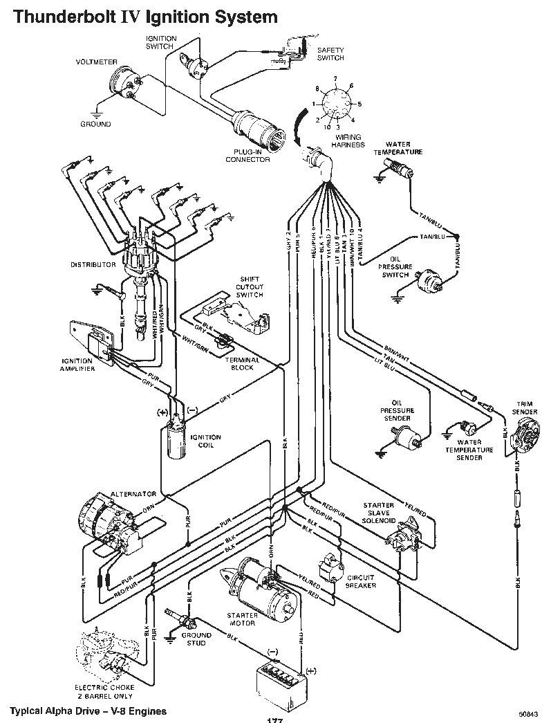 mercruiser ignition switch wiring diagram